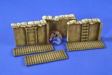 Verlinden 1/35 Sandbagged Modular Trench System with Duckboards I (3 pcs.) 2659
