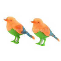 2pcs Plastic Realistic Voice Control Sounds Singing Chirping Bird Mini Child Toy