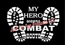 GUN COMBAT BOOTS HELMET Honor Vinyl Decal DieCut Sticker Window Vehicle #310
