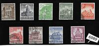#6989 Complete 9 stamp set 1940 Winter relief fund Germany ScB177-B185