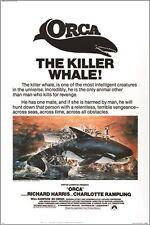 ORCA the KILLER WHALE classic movie poster RICHARD HARRIS ocean 24X36 HORROR