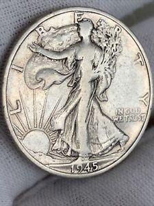 1945 S US USA Walking Liberty silver Half Dollar 50 c coin : 12.4g