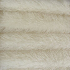 "1/3 yd 380S White INTERCAL 1"" Medium Density Curly German Mohair Fur Fabric"