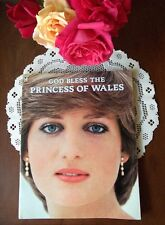 God Bless Diana the Princess of Wales early book 100s photos + poster UK X-Rare