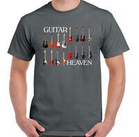 Guitar Heaven Mens Funny Guitarist T-Shirt Electric Acoustic Bass Rock Music