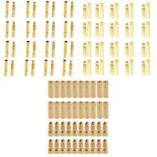 60 paires 2 / 3.5 / 4mm Plaqué or Bullet Banana Connector Plug Socket