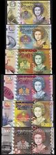 PITCAIRN ISLANDS 6 PCS SET UNC 5 10 20 50 100 500 POUNDS 2018 SAME SERIAL NUMBER