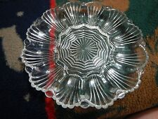 Depression Glass Deviled Egg / Relish Tray  Oyster Shell Pattern