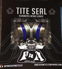 Harley Shovelhead Ironhead Panhead Intake Tite Seal Kit O-ring + Band Clamp Fix