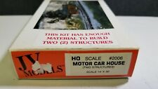 2 Motor Car Houses JV Models John Rendall HO Scale railroad building kit 2006