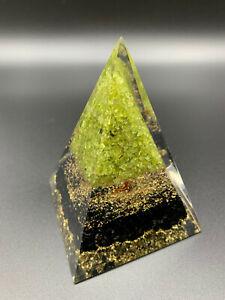 Orgonit Pyramide Lebensbaum Turmalin EMF Blattgold max Power XL 632