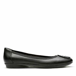 Clarks Womens Gracelin Lola Black Leather Shoes