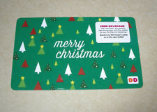 DUNKIN DONUTS COFFEE GIFT CARD NEW NO VALVE HOLIDAY 2017 MERRY CHRISTMAS
