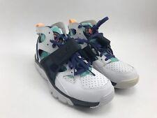 NEW Nike Air Trainer Huarache White/Charcoal Aqua Blue Size 9.5 679083-106