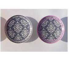 1 ( one ) GRAY OR GRAY PINK DAMASK YOU CHOOSE DRESSER DRAWER KNOBS BY ORDER
