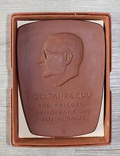Porzellanplakette 20 años cdu, política, Otto nuschke, Meissen