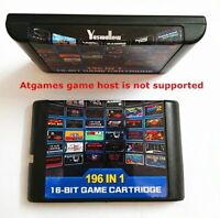 Megadrive Genesis 196 in 1 Multi Cart 16 Bit Retro Video Game Cartridge Card
