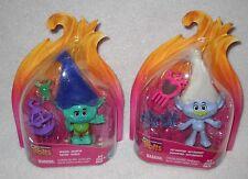 #9482 NRFC Hasbro Dreamworks Trolls 2 Mini Figures Branch & Guy Diamond Figures
