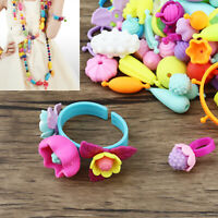 Snap Pop Beads Girl's Toy DIY Jewelry Kit Fashion Fun for Necklace 600pcs /Set