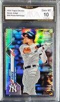 2020 Topps Chrome Aaron Judge #50 Prism Refractor GMA Gem Mint 10 Comp to PSA
