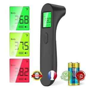 Thermomètre frontal numérique Infrarouge Bébé Adultes santé sans contact alerte