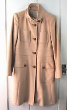Max & Co Beige Coat 44 Max Mara Camel Military Style Knotted Buttons Wool Mix