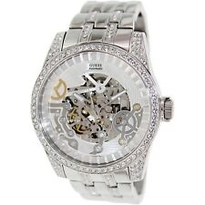BRAND NEW GUESS U0012G1 EXHIBITION AUTOMATIC STAINLESS STEEL GLITZ MEN'S WATCH