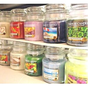 (A-K Scent Choices) YANKEE CANDLE 14.5 oz MEDIUM JAR CANDLES 13 oz SWIRLS Choice