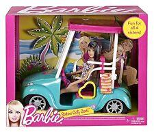 Mattel X4926 - Barbie Schwestern-Golfwagen , inklusive Skipper RARITÄT NEU OVP