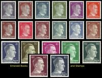 EBS Germany 1941-44 Hitler Definitives Hitlerkopf Michel 781/798+826-827 MNH**