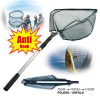 Portable Telescopic Fishing Net Folding 3-Section Aluminum Handle Landing Nets