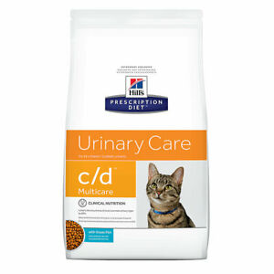 Hill's Prescription c/d Multicare Urinary Care with Ocean Fish Dry Cat Food 4 lb