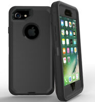 Lot 5-Pack Black Protective Defender Case for Apple iPhone 5s 6s 7 8 Plus XS XR