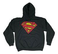 Men's Superman Logo Pullover Hooded Sweatshirt DC Comics