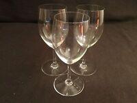 SET OF 3 BACCARAT CRYSTAL HAUT BRION SAINT EMILION CLARET WINE GLASSES