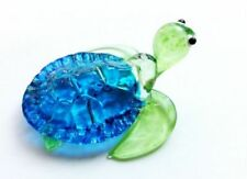 Blue Crystal & Cut Glass Hand Blown