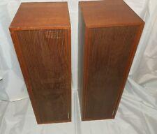 Tandberg Hi-Fi System 112-13 Loudspeakers Vintage Made in Norway Teak 1960s /70s