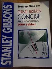 Stanley Gibbons Gran Bretaña Conciso catálogo de sellos en color 1999 edición en muy buena condición