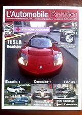 L'Automobile Passion n°5 du 7/2008;  Essai Tesla Roadster/ Lancia Delta/ Berling