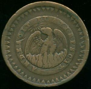 BUENOS AIRES PROVINCE ARGENTINA BIG COPPER COIN 20/10 (2 REALES) 1830 VF COND.