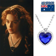Hot Film Titanic Heart Of The Ocean Silver Tone Blue Crystal Pendant Necklace