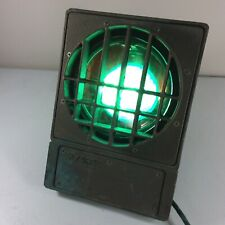 Hydrel Light Industrial Brass Antique Patina Pool Submersible Lamp Fixture Green