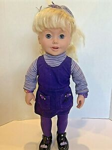 Amazing Ally Let's Play Tea Party Talking Interactive Doll Orig Clothes WORKS !