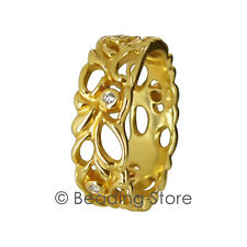 NEW Pandora 14k Gold Diamond Lattice Band Ring RRP$1095 Sz 58 150114D Retired