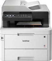 Brother - MFC-L3770CDW Wireless Color All-In-One Printer - White