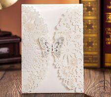 BEAUTIFUL WEDDING PARTY INVITATIONS DIY SET INVITES, CARD, ENVELOPE & STICKER