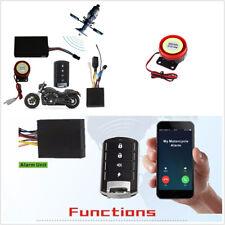 Universal Motorcycle GSM GPS Tracker Keyless Entry System Alarming Antitheft Kit