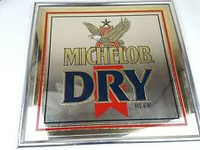 Michelob Dry Beer Vintage Mirror Bar pub Sign Man Cave