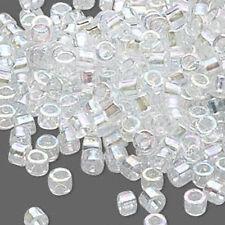 1,000 Transparent Rainbow AB #11 Miyuki Delica Loose 11/0 Small Glass Seed Beads