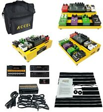 Accel XTA15 Guitar Pedal board (Yellow), FX Power Source 8 & Tote